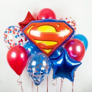 Букет из воздушных шаров с Суперменом