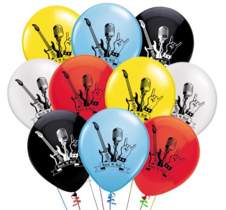 Латексный шар с рисунком Rock-n-Roll. Изготовлены из натурального латекса.