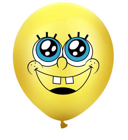 Латексный шар с Губкой Бобом