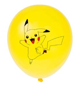 Латексный шар с рисунком Пикачу