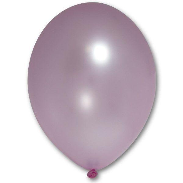 Латексный шарик побольше розовый металик