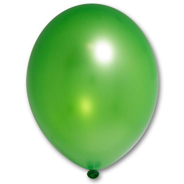 Латексный шарик побольше зеленый металик.