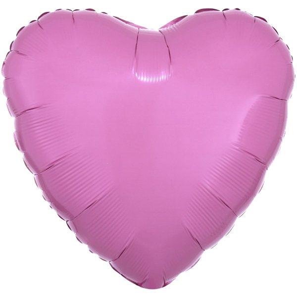 Фольгированное сердце пастель розовое.