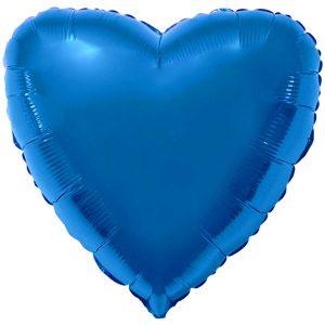 Фольгированное сердце синее.