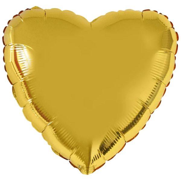Фольгированное сердце золотое.