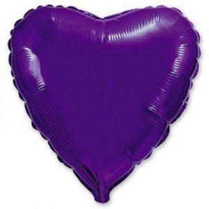 Фольгированное сердце фиолетовое.