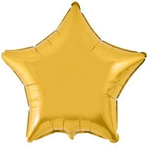 Фольгированный шар звезда золотая