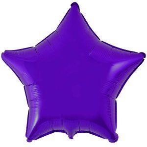 Фольгированная звезда фиолетового цвета.