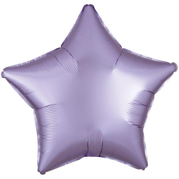 Фольгированная звезда сатин лаванда.