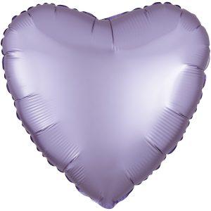 Фольгированное сердце сатин лиловое