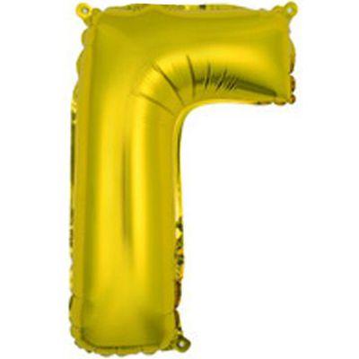"""Фольгированный воздушный шар в форме золотистой буквы """"Г"""""""