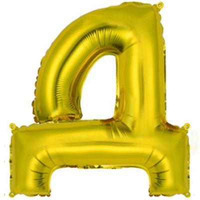 """Фольгированный воздушный шар в форме золотистой буквы """"Д"""""""