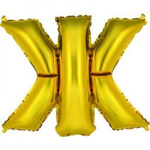 """Фольгированный воздушный шар в форме золотистой буквы """"Ж"""""""