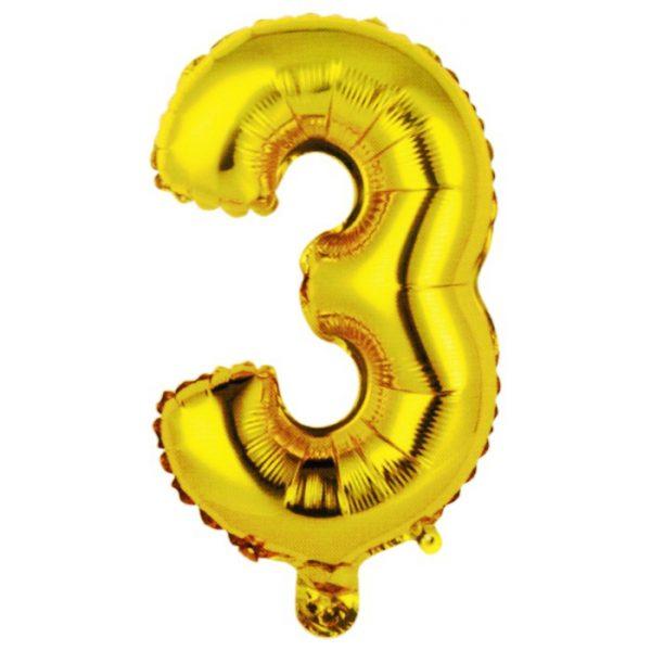 """Фольгированный воздушный шар в форме золотистой буквы """"З"""""""