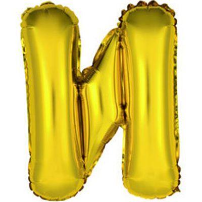 """Фольгированный воздушный шар в форме золотистой буквы """"И"""""""