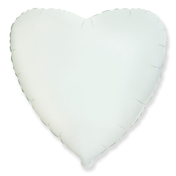 Фольгированное сердце белое.