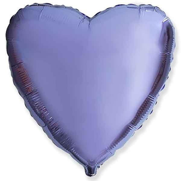 Фольгированное сердце лиловое.