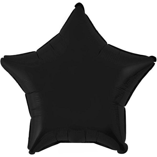 Фольгированная звезда черная.