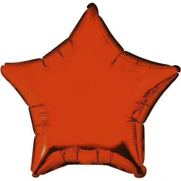 Фольгированная звезда оранжевая.