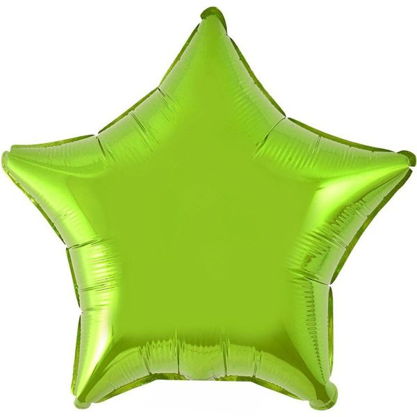Фольгированная звезда светло-зеленая.