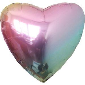 Фольгированное сердце жемчуг