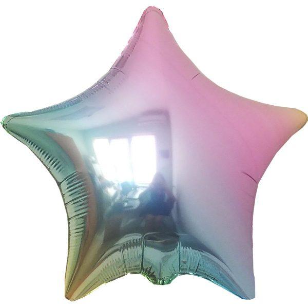 Фольгированная звезда жемчуг.