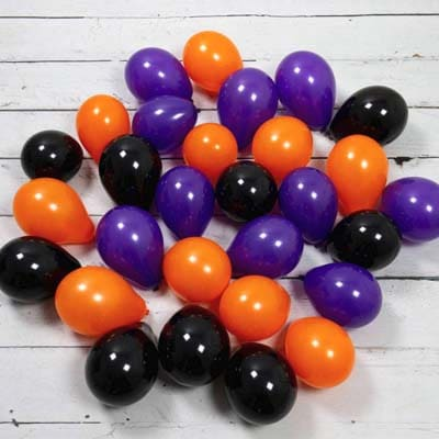 Воздушные шарики с воздухом (не летают) на пол