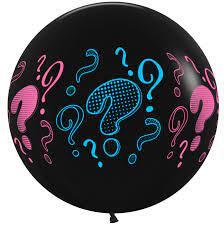 Воздушный шар на определение пола ребенка с знаками вопроса