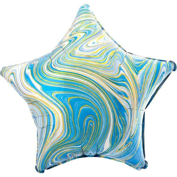 Звезда агат голубой