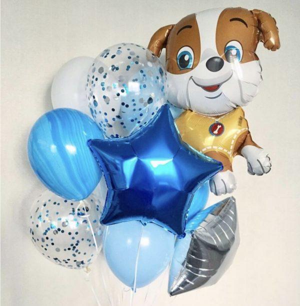 Букет (0.234) Букет из воздушных шаров состоит из 10 шариков.