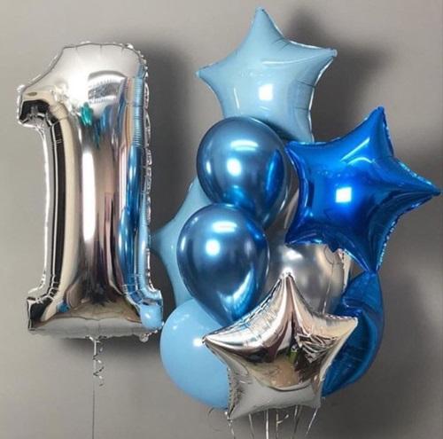 Букет (0.235) Букет из воздушных шаров состоит из 11 шариков.
